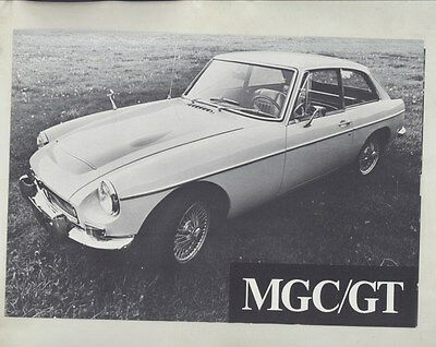 1969 MG MGC GT Brochure ww4649