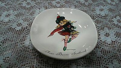 Brownie Downing Ceramics J H Weatherby Frae Bonnie Scotland Plate Ashtray 1963