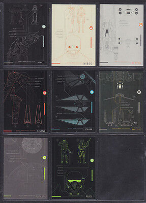 Topps Star Wars - Rogue One Series 1 - Blueprint Insert Set (8)