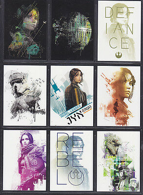 Topps Star Wars - Rogue One Series 1 - Gallery Insert Set (10)