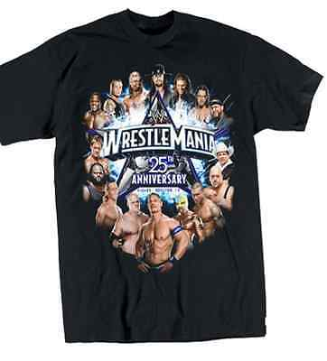 Wwe Authentic Wrestlemania 25 Anniversary T-Shirt Size L Brand New