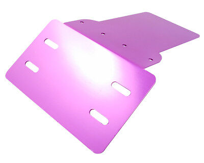 License plate holder universal aluminum in purple eg Scooter / Quad