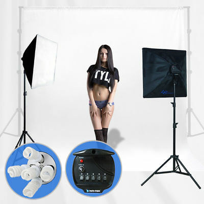 Photography Softbox Light Kit Photo Studio Video Stand Continuous Lighting 2500W