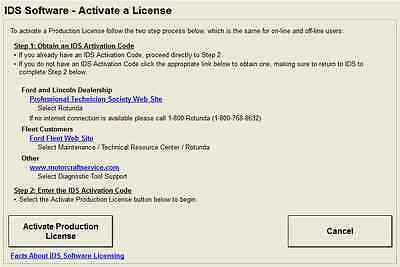 FORD IDS SOFTWARE LICENCE - VCM +VCM2 OEM License 01/2018 expire (WORLDWIDE)