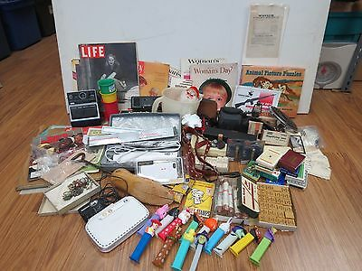 VINTAGE JUNK DRAWER COLLECTIBLE LOT of 185 PC. #539