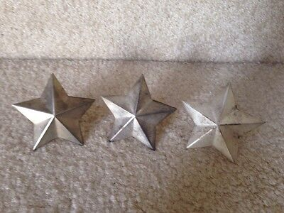 SILVER PLATED Star NAPKIN RINGS SET OF 3