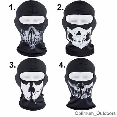Ghost Style COD 1 Hole Skull Balaclava Motorcycle Motor Bike Airsoft Face Mask