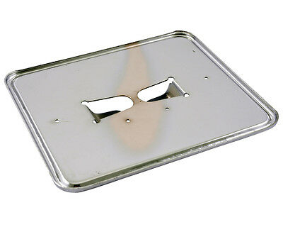 License plate holder plate in chrome 145x125 mm