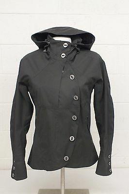 Nau Stylish Gray Hooded Sustainable Shell Jacket Women's Small EXCELLENT LOOK