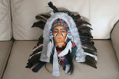 Native American Indian Head Wall Hanging