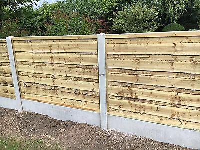 Heavy Duty Wayneylap Tanalised Wooden Garden Fence Panels 6X3 ��