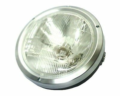 Headlights universal circular chrome with CE moped moped motorcycle