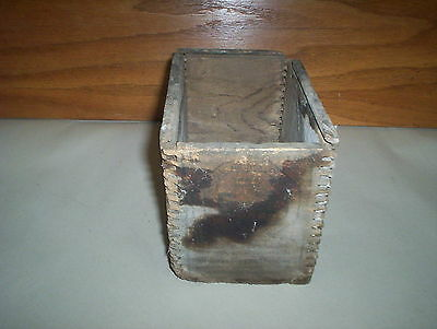Vintage Wooden Box Anti Borax Compound Company Dovetailed Windsor Ontario