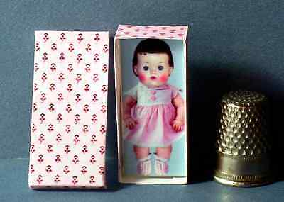 Dollhouse Miniature  Tiny Tears Doll Box 1958 dollhouse girl nursery 1:12 scale