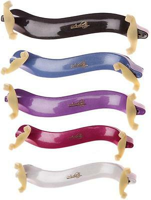 Archetto Violin Shoulder Rest in 4/4 - 3/4 Size - Metallic Pink, Blue & White