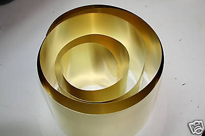 """BRSBrass Shim Stock .005 Thick x 6"""" Wide x 100"""" Long (SHOPAID) NEW!!!!!"""