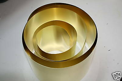 """Brass Shim Stock .005 Thick x 6"""" Wide x 100"""" Long (SHOPAID) NEW!!!!!"""