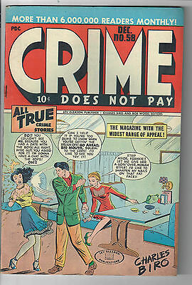 CRIME DOES NOT PAY #58 - Grade 6.5 - 1947 Golden Age Charles Biro Cover!