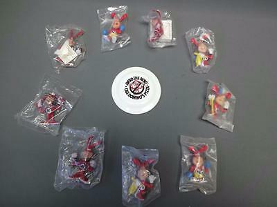 """1980s Collectible Dominos Pizza Avoid The Noid Advertising 3"""" Figures Sealed New"""