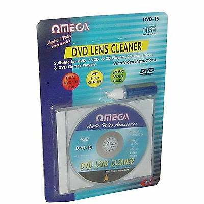 Wet & Dry CD DVD VCD CD-ROM Stereo Head Lens Cleaner Disc With Cleaning Fluid