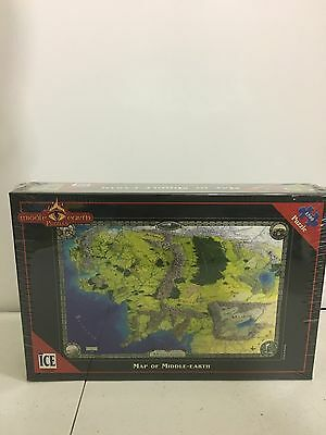 Ice Middle Earth Puzzles LOTR J.R. Tolken Map Of Middle Earth 1500 Piece Puzzle