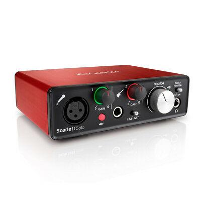 Focusrite Scarlett Solo Gen 2 USB Audio Interface with Mic Pream