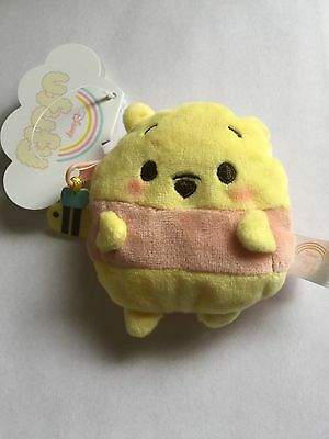 Disney Store Japan Winnie Ufufy Scented Small Coin Purse Plush New with Tags