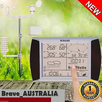 Maxkon Touch Screen Wireless Weather Station Thermometer w/PC Software sensor