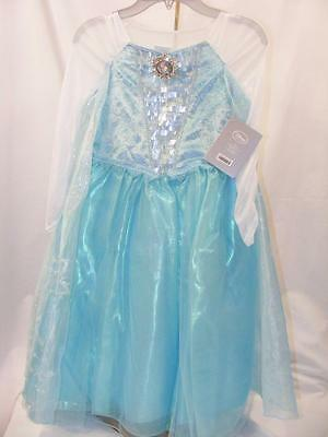 Disney Store Singing Elsa Frozen Costume Dress-Up Gown Size 5/6