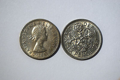 1953-1967 Elizabeth Ii Cupro-Nickel Sixpence, Choice Of Date/ Year