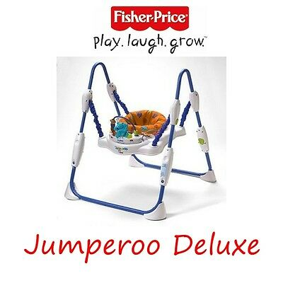 USED FISHER PRICE Baby Jumperoo Deluxe w/ Musical Toy Station (Age 6M+)