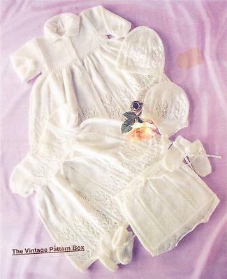 HEIRLOOM BABY SET 6 to 12 months / 3ply- COPY baby knitting pattern