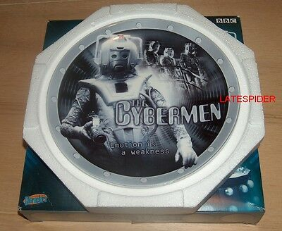 """Doctor Who - CYBERMAN - LIMITED EDITION COLLECTORS PLATE 8"""" 20cm"""