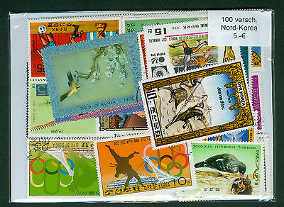 Korea, 100 Used stamps Packet, All Different Very Nice Lot, PA10