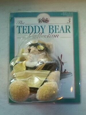 The Teddy Bear Collection' Bear No.3 - Peter the Pilot - Plush Toy. NEW FREE P+P