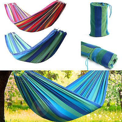 Outdoor Travel Swing Chair Hanging Bed Camping Patio Canvas Portable Hammock New