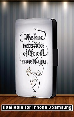 The Jungle Book Bare Necessities Disney Faux Leather Flip Phone Case Cover Y165