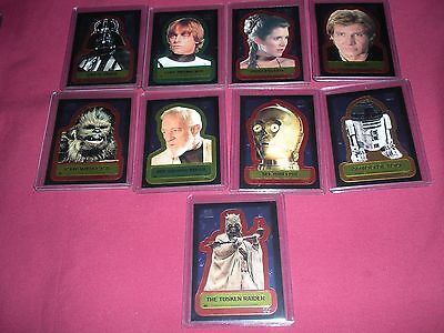 Star Wars Chrome Archives Double-Sided Chromium 1-9 Inserts Stickers Set 1999 Nm