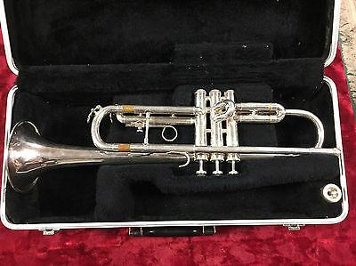 Silver Bach USA Mercedes II Trumpet - Smooth Valves - Plays Great - Mouthpiece