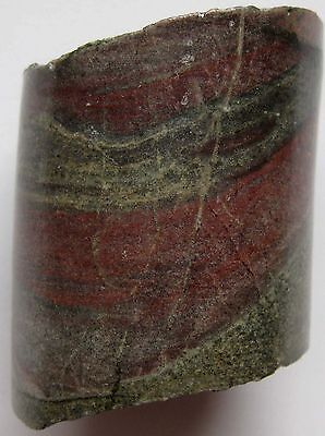Marble Chunk 1 Pc Large Green Red Cylindrical Glazed Crafts Arts Decor Garden