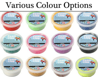35g Pots of Foam Clay for Kids Modelling Crafts