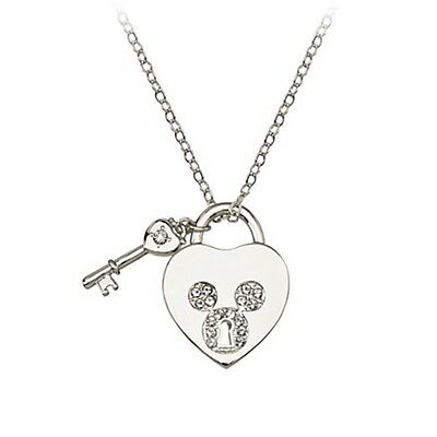 Disney Mickey Mouse Swarovski Crystal Icon Heart Necklace Arribas Brothers New