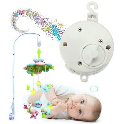 Toddler Baby Mobile Crib Windup Movement Music Box Develop Toy Stroller Bed Bell