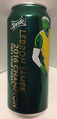 Lebron James 16 Oz Sprite Can 2016 Champion Cavs Nba Finals Champions