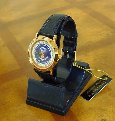 Presidential Seal Bill Clinton White House gift Presidential Watch Authentic BLK