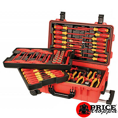 Wiha 32800 Master Electricians 80 Pc Rolling Thunder Insulated Tool Set