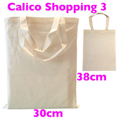 Calico Shopping Bag Calico Carry Bag Size 3  H38cm x W30cm Pkts:1-200