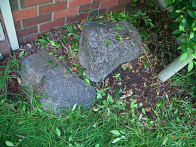 FREE - 2 large garden honeycomb rocks