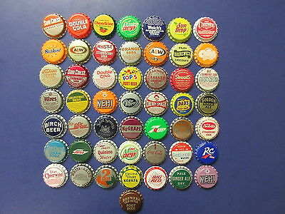 50 Old Soda Bottle Caps=Mint Condition=Never Used=