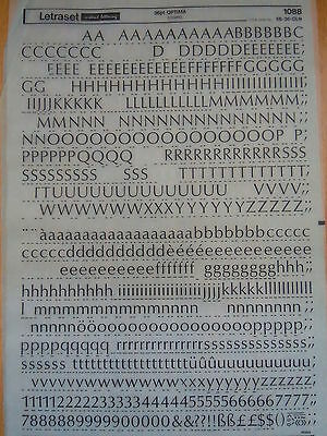 LETRASET Rub On Letter Transfers OPTIMA 36pt (#1088) used